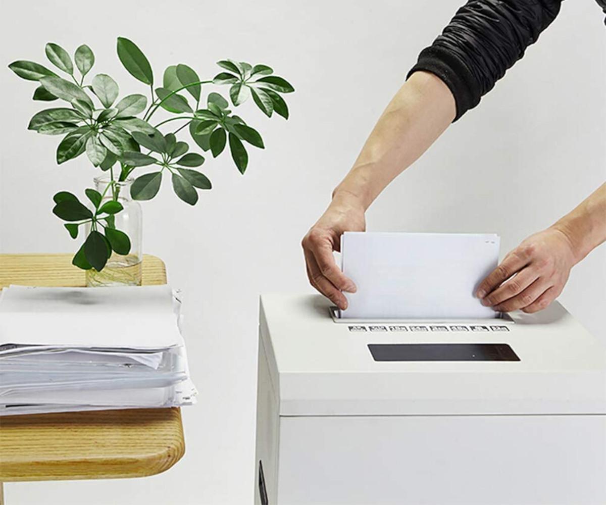 Destructoras de papel en el hogar