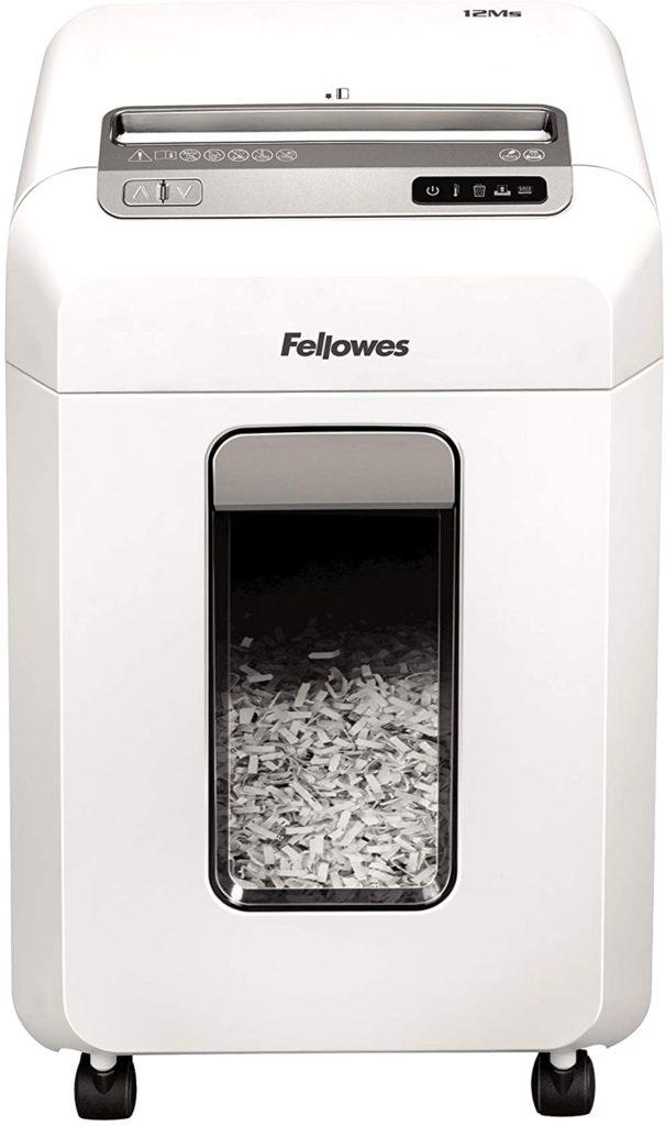 Fellowes Powershred 12MS - Mini destructora de documentos para pequeñas empresas y oficinas domésticas